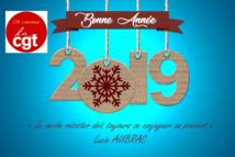 Carte de vœux 2019 de la CGT du CH Lavaur   31/12/18