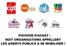 Pouvoir d'achat: Huit organisations appellent les agents publics à se mobiliser