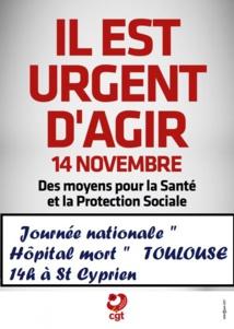 Ensemble pour défendre notre système santé, l'hôpital public et l'action sociale. Appel unitaire national  12/11/19