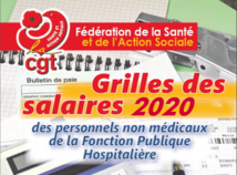 Grilles des salaires 2020 dans la FPH  20/12/20