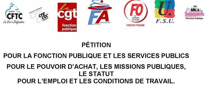 Pétition pour la Fonction Publique et les services publics  05/04/18