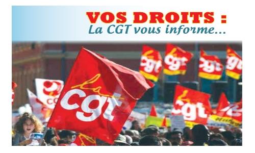 Vos droits: La CGT vous informe    19/11/18