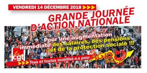 Journée nationale d'action pour le pouvoir d'achat ! 12/12/18
