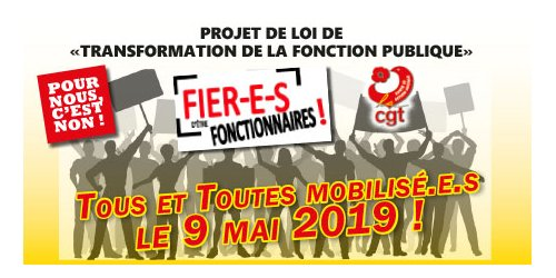 Mobilisation nationale contre la réforme du statut de la Fonction Publique    9/05/19