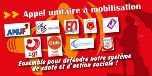 Communiqué unitaire: Ensemble pour défendre notre système de santé et d'action sociale 10/10/19