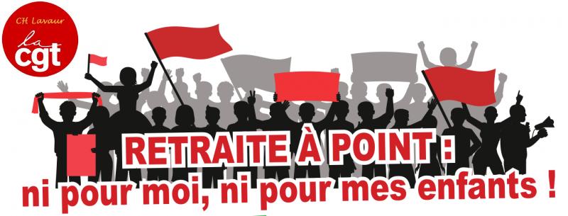 NON à la retraite à point !!! « Âge pivot, âge pipeau »  23/01/20